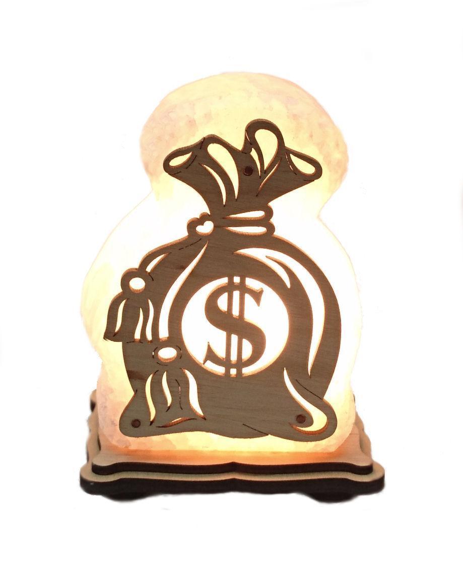 Соляной светильник Мешочек доллар  маленький