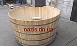 Купель круглая для бани и сауны 200х120см., фото 6