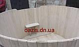 Купель круглая для бани и сауны 200х120см., фото 7