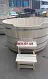 Купель круглая для бани и сауны 200х120см., фото 8