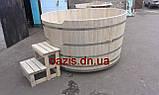Купель круглая для бани и сауны 200х120см., фото 9