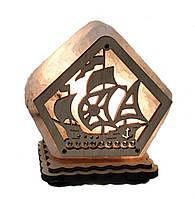 Соляной светильник Домик кораблик