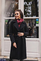 Женское удлиненное демисезонное пальто классика,на подкладке, на запах, много цветов  42 44