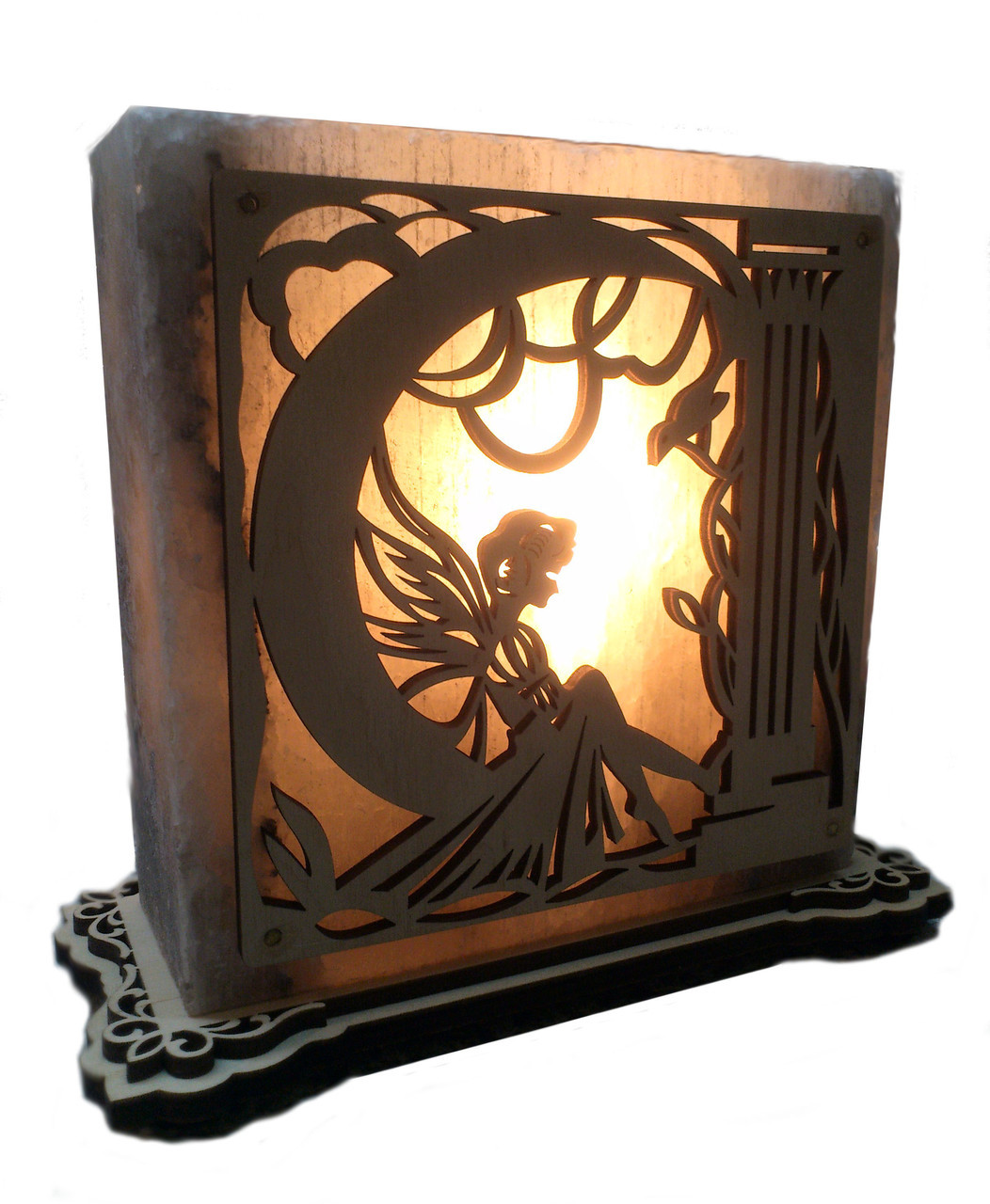 Соляной светильник Фея