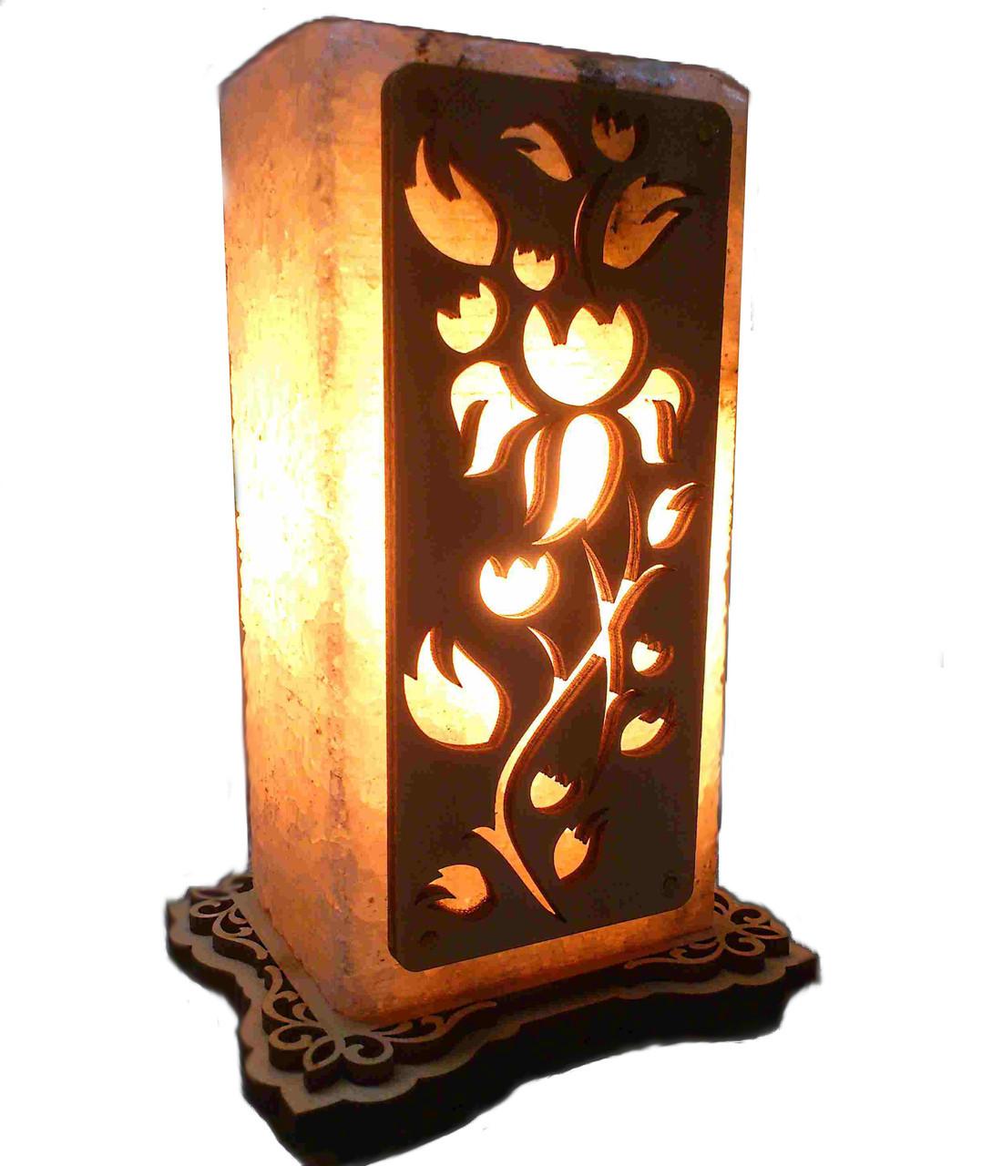 Соляной светильник с нашивкой Цветок