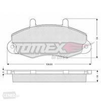 """Передние тормозные колодки (комплект) колесо 14"""" Ford Transit 1994-2000 TOMEX 1066"""