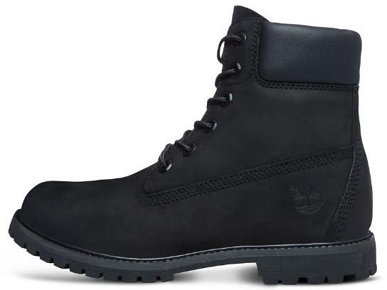 Женские ботинки Timberland 6-inch Classic Black (Тимберленд) с натуральным мехом