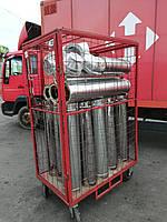 Дымоход сэндвич (толщина 0,8мм) AISI430 нержавейка/оцинковка, AISI 430 (техническая), 1 мм, 150