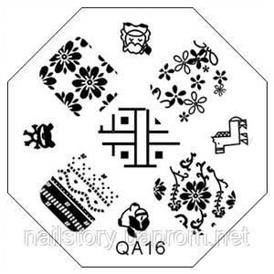 Трафарет для стемпинга QA16