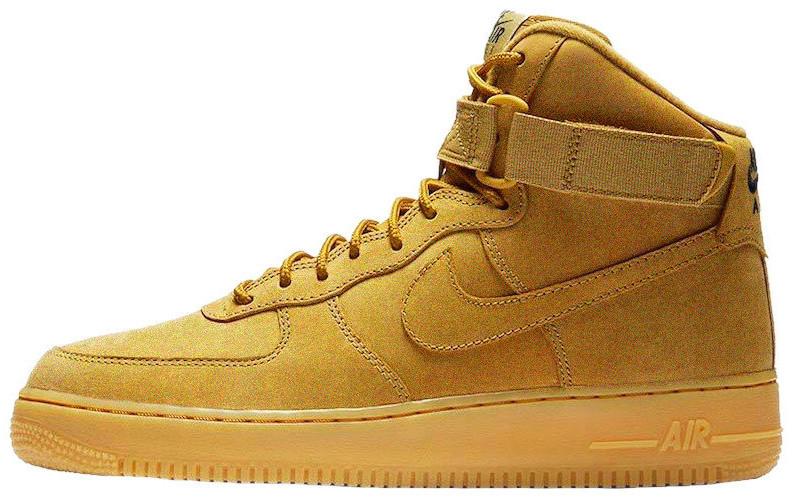 Мужские зимние кроссовки Nike Air Force 1 Mid 'Yellow' (Найк) с мехом
