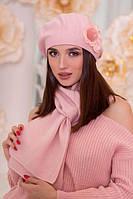 Комплект бере і шарф з декором у 8ми кольорах 6001-10