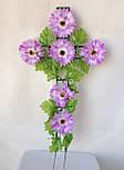 Крест с цветами ритуальный, гербера, фото 2