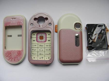 Корпус телефона для Nokia 7370 7373 розовый AAA, фото 2