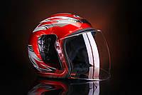 Шлем открытый красный 56-58 размер