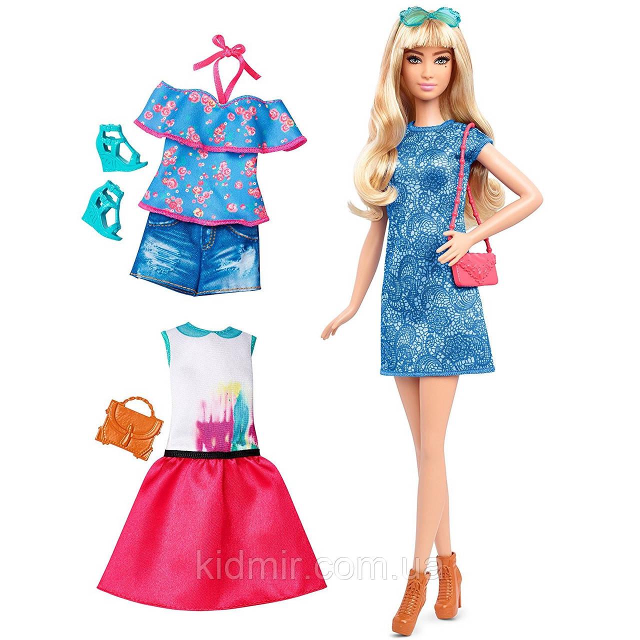 Кукла Барби Модница с набором одежды Лэйси Блу Barbie Fashions Lacey Blue