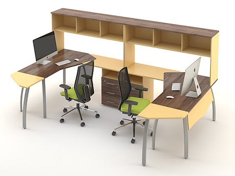 Комплект мебели для персонала серии Прайм композиция №6 ТМ MConcept, фото 2