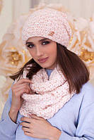 Комплект шапка і шарф великої в'язки в 4 кольорах 4622-8