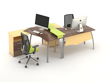 Комплект мебели для персонала серии Прайм композиция №7 ТМ MConcept, фото 2