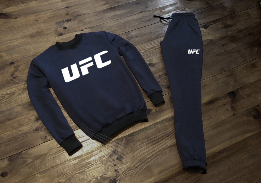 Спортивный костюм мужской UFC ЮФС темно-синий (реплика)