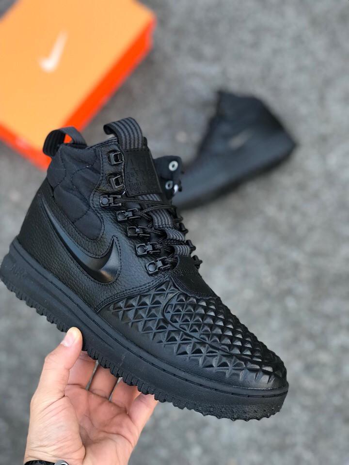 Мужские Кроссовки Nike Lunar Force 1 Dckboot 17 черные на меху