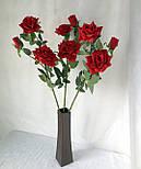Искусственная роза раскрытая , 3 цветка , фото 2