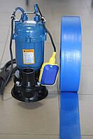 Дренажно-фекальний насос +ШЛАНГ 20м (1100w)