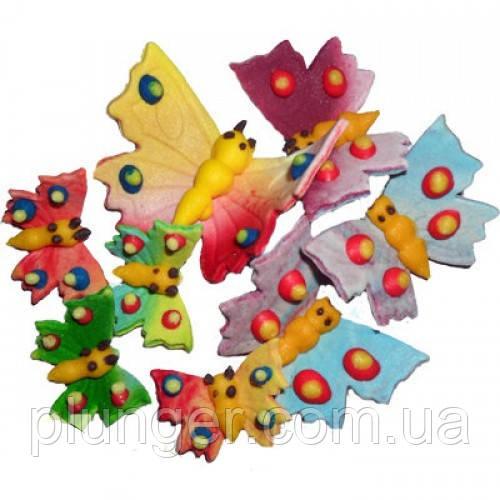 Цукрові прикраси для кондитерських виробів Метелики набір з 8 шт