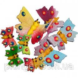 """Сахарные украшения для кондитерских изделий """"Бабочки"""" (набор из 8 шт)"""