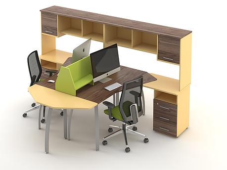 Комплект мебели для персонала серии Прайм композиция №8 ТМ MConcept, фото 2