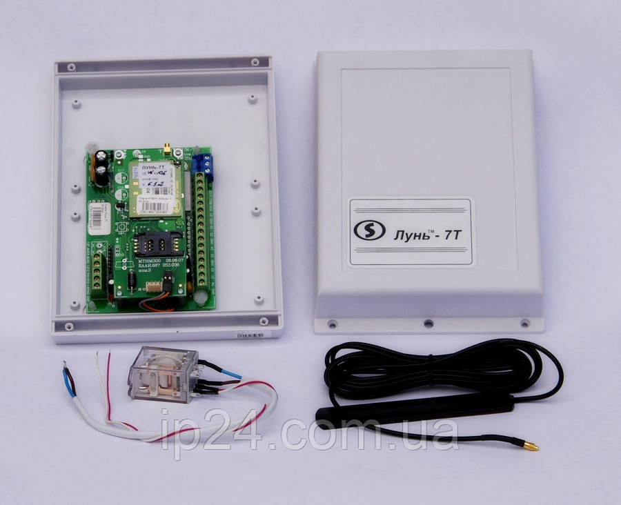 Прибор приемно-контрольный охранно-пожарный GSM Лунь-7Т моноблок