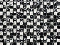 Air Black&Silver Dekor (1.5) 29.8*29.8*1см Керамика Травертин Эмалированый