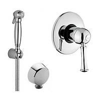 Ретро гигиенический душ со смесителем скрытого монтажа Bugnatese Denver Италия
