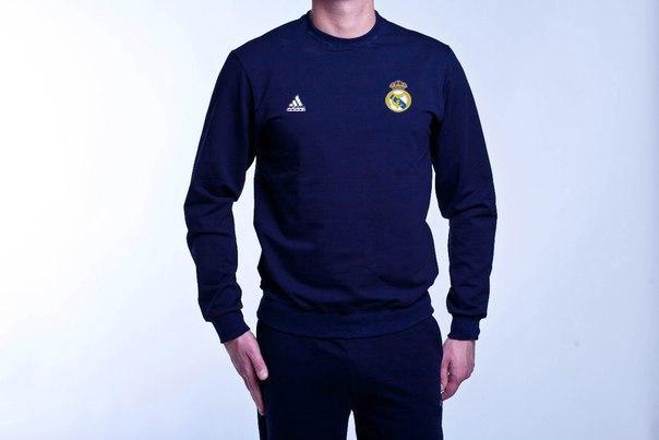 Спортивний костюм футбольний Адідас Реал Мадрид темно-синій (репліка)