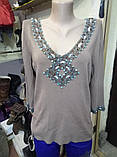 Трикотажный свитер с камнями, фото 3