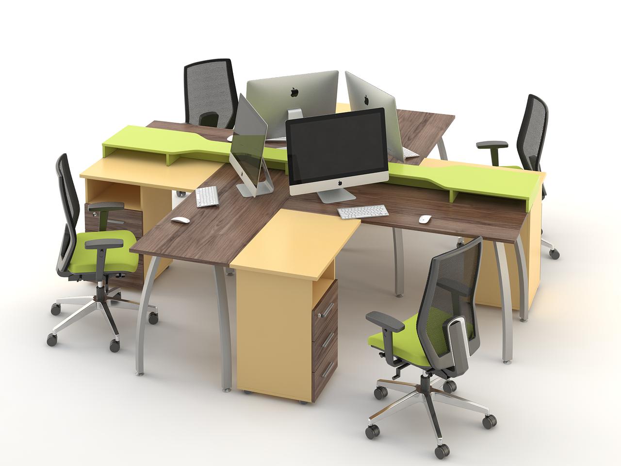 Комплект мебели для персонала серии Прайм композиция №10 ТМ MConcept