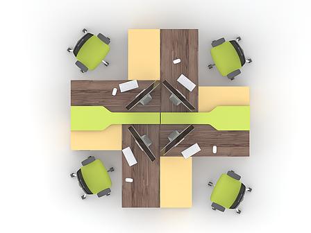 Комплект мебели для персонала серии Прайм композиция №10 ТМ MConcept, фото 2