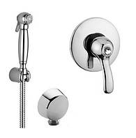 Гигиенический душ в ретро стиле со смесителем скрытого монтажа Bugnatese Lem Италия