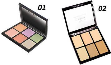 Палитра корректоров (консиллеров) для макияжа 6 цветов Malva М-476
