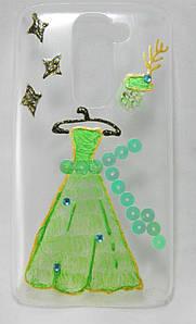 "Чехол накладка на LG G2 Mini D618 D610 D620 ручной работы ""Королева бала"""
