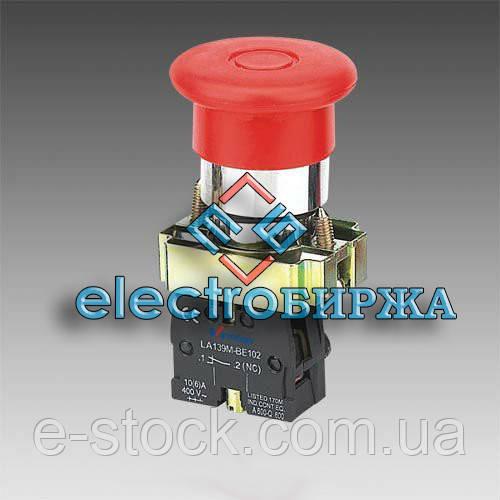 "XB2-BC42 Кнопка ""грибок"" (d 40 мм) ""Стоп"" красная"