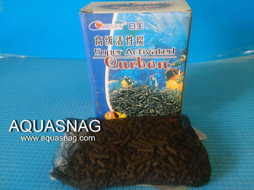 Активированный уголь Resun , 300 г, размер гранул дл (1-1.5)см, d-4мм