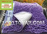 """Набір з 2-х килимків з мікрофібри """"Макарони або дреди"""" для широкого застосування, 80х50 см і 35х50 див., фото 2"""
