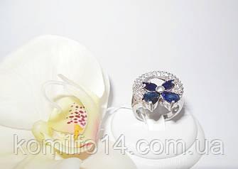 Срібне кільце з натуральним сапфіром, фото 2