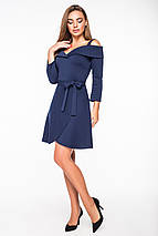 Женское платье с открытыми плечами и поясом(5118-5109-5996-5997ie), фото 3