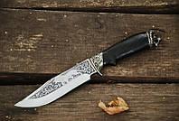 """Нож """"Лев888"""" 160х35х2.2мм с ручкой из мореного дуба"""