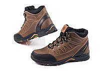 Кожаные  мужские зимние спортивные ботинки Andante олива, фото 1