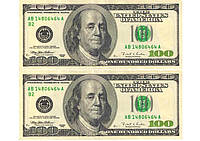 Картинка вафельная А4,Доллары 2