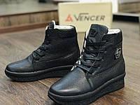 Женские ботиночки Vencer (черный флотар)
