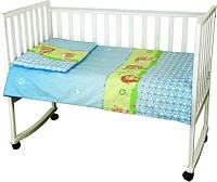 Комплект постельного белья детский Руно голубой Ежик бязь арт.932.02_(Блакитний)  їжачок