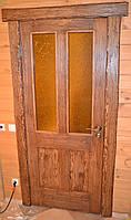 Двери межкомнатные под старину со стеклом